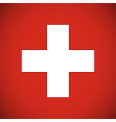 National flag of Switzerland vector image