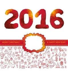 new year numbersred vector image