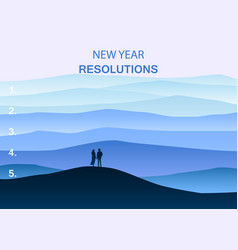 new years resolution in the new year men and vector image