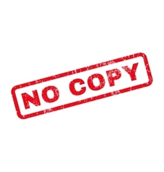 No Copy Rubber Stamp vector