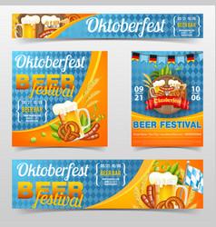 oktoberfest beer festival poster banner vector image