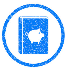Pig handbook rounded grainy icon vector