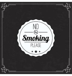 Please no smoking label vector