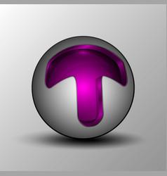 purple circle sphere logo vector image