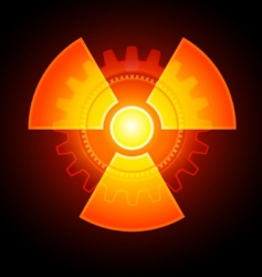 radioactivity sign vector image vector image