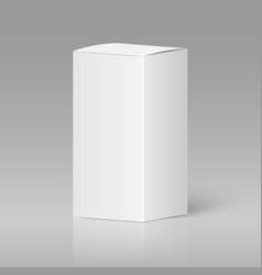 realistic white blank box vector image