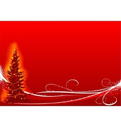 Red Christmas And White Floral vector image