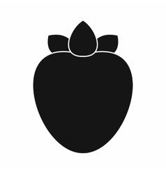 Ripe persimmon icon simple style vector