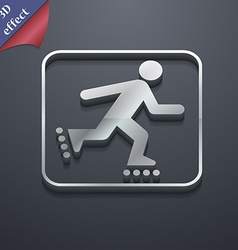 roller skating icon symbol 3D style Trendy modern vector image