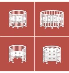 Round Baby Crib vector