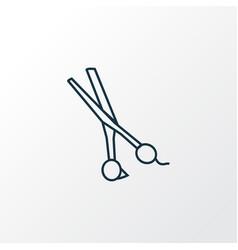 scissors icon line symbol premium quality vector image