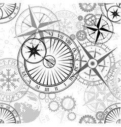 seamless design elements pattern vector image