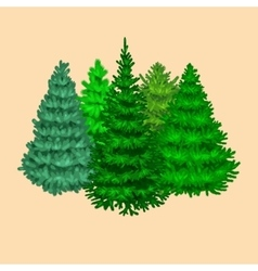 Set of christmas tree like fir or pine Blue vector