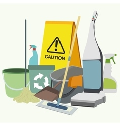Set of cleaning service emblems labels and vector image