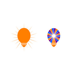set of light bulb design logo template vector image