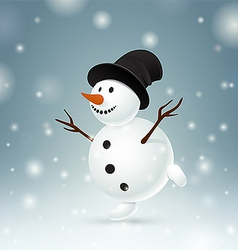 Smiley snowman vector