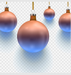 stock christmas ball two vector image