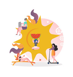 sunny weather concept for web banner vector image