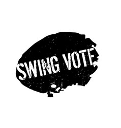 Swing vote rubber stamp vector