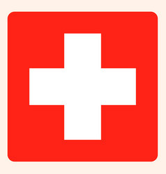 switzerland square flag button social media vector image