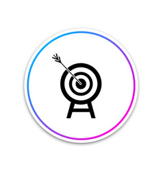 target with arrow icon isolated dart board sign vector image