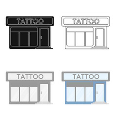 Tattoo salon building parlor icon cartoon single vector