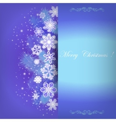 Template invitation to a festive Christmas card vector image