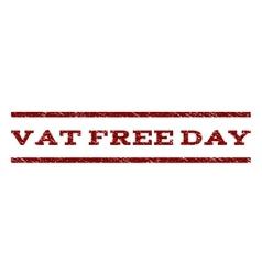 Vat Free Day Watermark Stamp vector