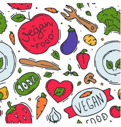 Vegetarian food logo symbol vegan eco vector