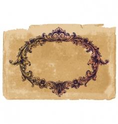 Victorian frame on vintage paper vector image