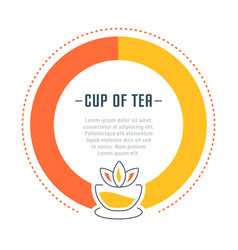 Website banner and landing page cup tea vector
