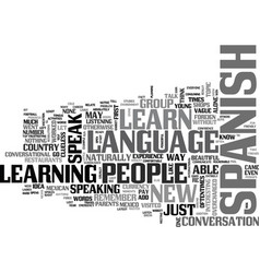 Why should people learn spanish text word cloud vector