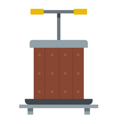 Wine press icon isolated vector