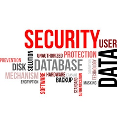 Word cloud data security vector