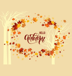 yellow fall background vector image