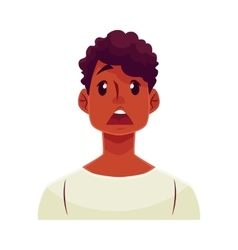Young african man face surprised facial vector