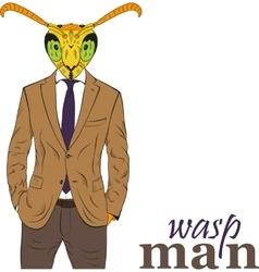 Cartoon character wasp vector image vector image