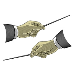 composer hands vector image vector image