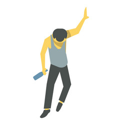 drunk person barely standing vector image vector image