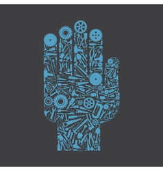 Hand the tool vector image