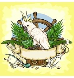 Pirates Treasure logo design vector image