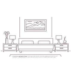 Bedroom Furniture Outline vector image