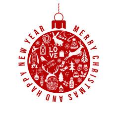 christmas and new year holiday card vector image