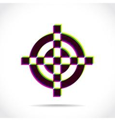 Crosshair symbol vector image vector image