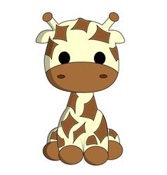 Cute giraffe cartoon vector image