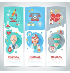 Medical doctors portraits on banners vector