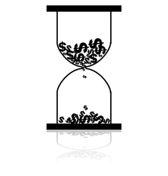 Money hourglass vector image vector image