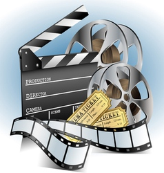 Movie related item set vector image
