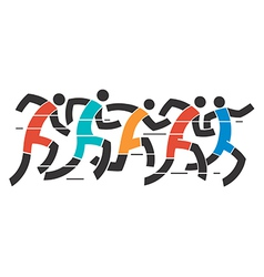 Running race vector image vector image