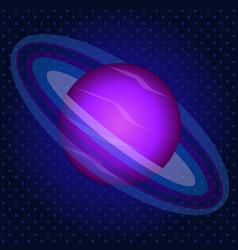 satellite planet pop art retro style astronomy vector image